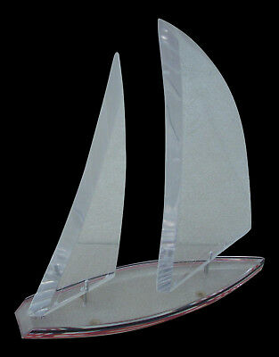 Wintrade Beverly Hills Ca. Lucite Nautical Sailboat  Very Nice