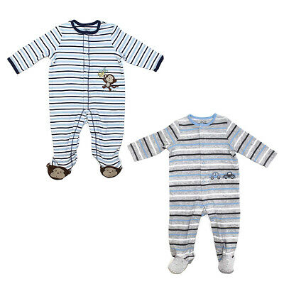 9ae817d774f6 LITTLE ME FOOTBALL Footie Pajamas for Baby Boys - One-Piece Footed ...