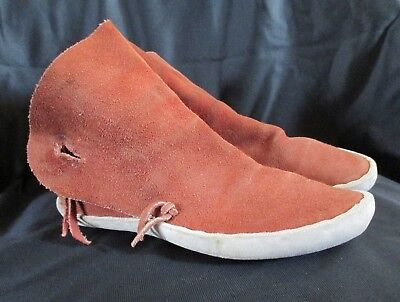 Authentic Navajo Leather Moccasins Size 4EE