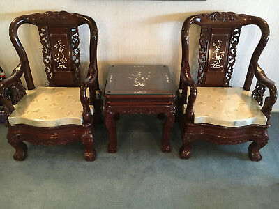 Oriental Rosewood(Red Ebony Wood in Chinese) Furniture Living Room 8 Pcs. Set