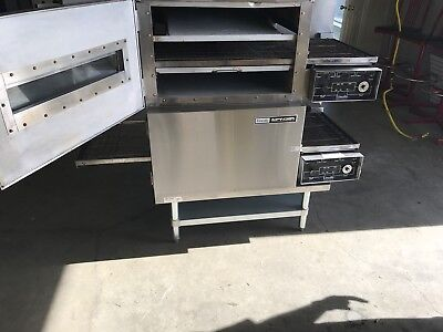 lincoln 1116 impinger Double Stack pizza ovens W/stand watch the video demo