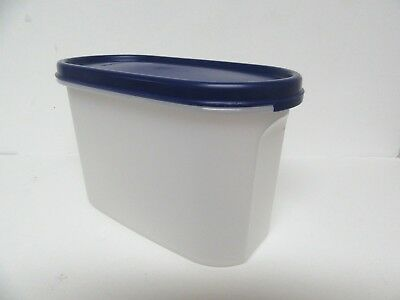 Tupperware Modular Mates (#2) Oval Container #1612-H w/ Navy Blue Seal  EUC!!