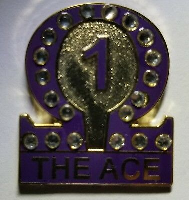 """Omega Psi Phi """"Line #1-The Ace"""" Lapel Pin ( numbers 1-12 available)"""