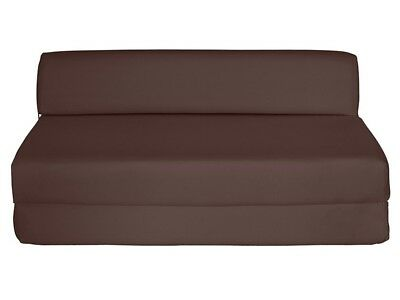 ColourMatch Colour Match Double Z Bed Fabric Chairbed Chair Cotton Brown Futon