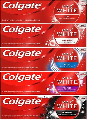 Colgate Max White Whitening Toothpaste (One/Optic/Luminous/Protect/Charcoal)