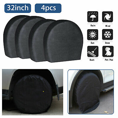 """Set of 4 Wheel Tire Covers For RV Trailer Camper Car Truck And Motor Home 32"""""""