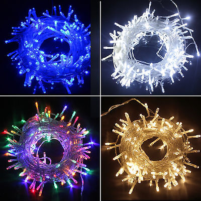 20-500 LED Solar Battery Corded Powered Fairy String Lights Outdoor Xmas Wedding