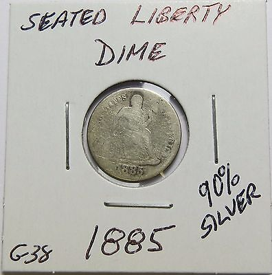 1885 Seated Liberty Silver Dime ~ Nice ~  Combined Shipping  Lot G38
