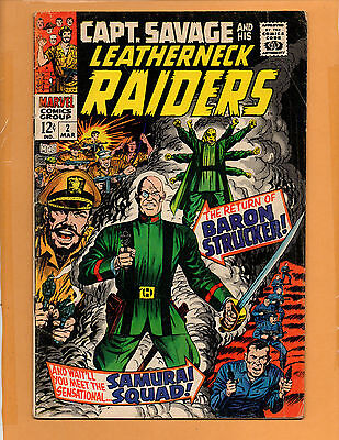 Captain Savage And His Leatherneck Raiders #2 FN-