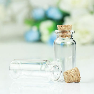 Wholesale Mini Wishing Glass Bottles 10ml 22x50mm Empty Clear Vials With Cork
