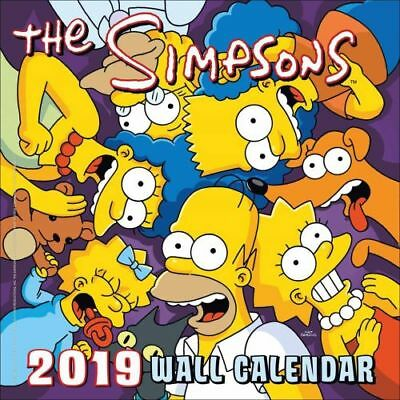 NEW The Simpsons Official 2019 Square Wall Calendar Wall Calendar Free Shipping