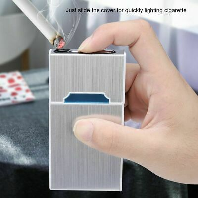 2 in 1 Cigarette Case Lighter USB Recharge Flameless Windproof for 20 Cigarettes