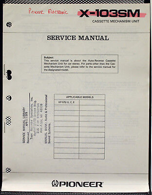 Pioneer Cx-147 Original Cassette Mechanism Unit Service-manual O104 Tv, Video & Audio