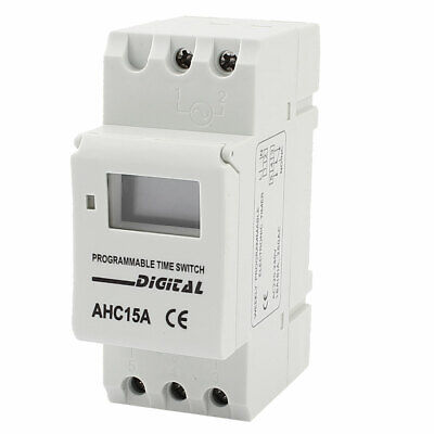 AHC15A AC 220V Digital LCD Power Weekly Programmable Timer Time Relay Switch