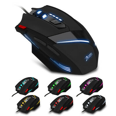 7200DPI Gaming Mouse USB Wired Mice with LED 7 Buttons for PC Laptop Computer