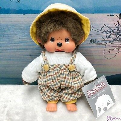 Monchhichi S Size Plush Countryside Fashion Boy Jumper, Knit Top & Hat ~ RARE ~~