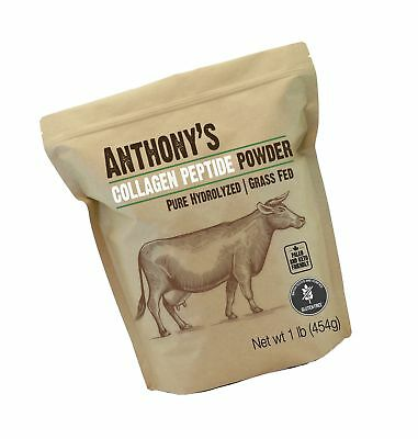 Anthony's Collagen Peptide Powder (1lb), Pure Hydrolyzed, Gluten Free, Keto a...