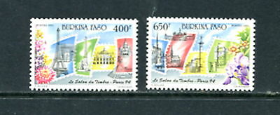 Burkina Faso #955-6 stamps on stamps, Paris Expo 1993 2v. MNH D667