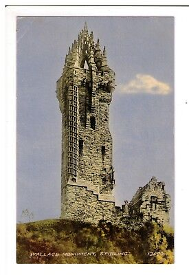 Postcard: Wallace Monument, Stirling, Scotland
