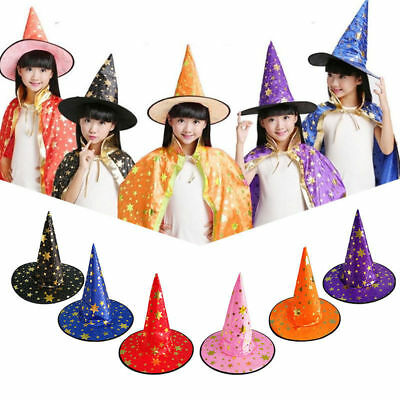AU Satin Fabric Halloween Witch Hat Modern Witch Cap Party Costume Accessory Cap