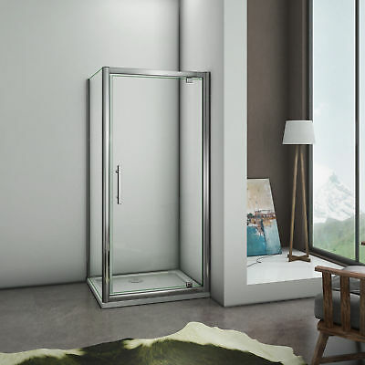 860x760mm Pivot hinge door and side panel walk in shower enclosure glass cubicle