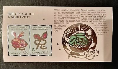2011 Christmas Island Stamps - Year of the Rabbit - Minisheet - MNH