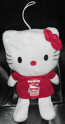 Peluche Plush-Big Hello Kitty Maglietta Rossa/Red Shirt Hamburger Please Eat Me
