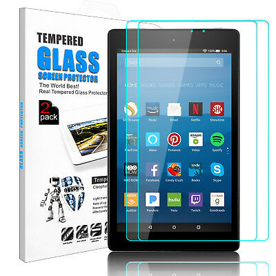 For All New Amazon Fire HD 8 8th Gen 2018 Tempered Glass Screen Protector Film