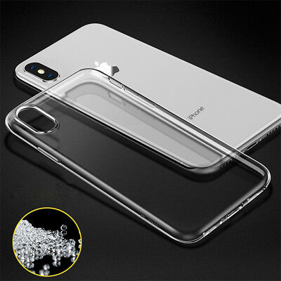 For Apple iPhone XS Max XR TPU Shockproof Slim Silicone Soft Clear Case Cover