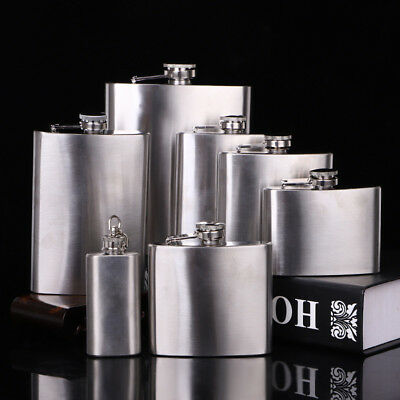 4 5 6 7 8 10 18 oz Stainless Steel Hip Flask Wine Liquor Whisky Bottle Drinkware