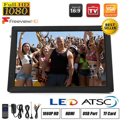 Freeview 1080P HDMI HD 14'' Portable TV Digital Television Player Rechargeable