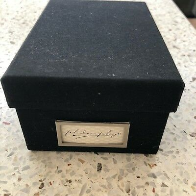 Business Card Holder Box Black With A- Z Dividers, More Available