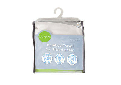 Bamboo Travel Cot Fitted Sheet White - Full Comfort - 1353510.
