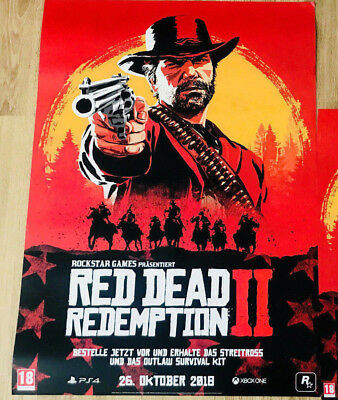 Exclusive Red Dead Redemption 2 Preorder Poster BIG+ Small+leere PS4/ XB1 PO Box