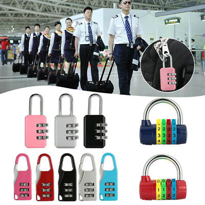 4679 Password Lock Coded Padlock Portable 3 Digit Dial Luggage Security