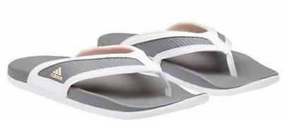New Adidas Adilette CF Grey and Pink Women s Sandals Thong Flip Flops c577e54a2