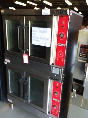 Vulcan VC4GD-10 Double Stack Convection Oven - Natural Gas - Casters