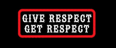 Give Respect Get Respect Embroidered Patch Biker Mc Sew On Made In Usa (A)