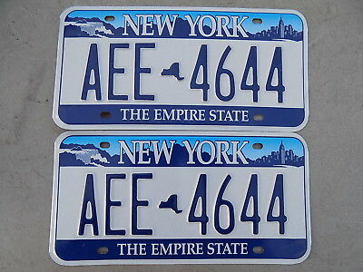 2010 New York Pair of License Plates AEE-4644 The Empire State ~FastFreeShip~