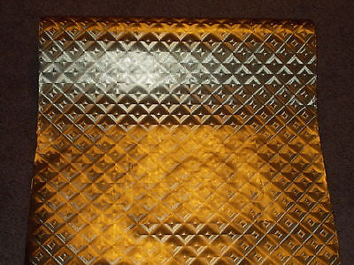 """Vtg Christmas Store Wrapping Paper Gift Wrap Shimmering Gold Foil 2 Yards X 26"""""""