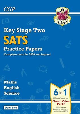 Ks2 Sats Practice Papers 6-In-1 English Maths Science Pack 2 For 2019 Onward