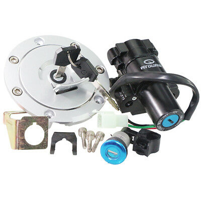 Ignition Switch Fuel Gas Tank Cap Cover Seat Lock 2keys For Honda