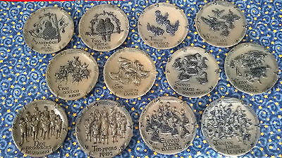 Full Set 12 Days Of Christmas Rowe Pottery Plates