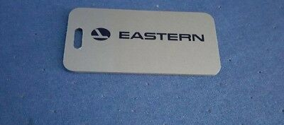 "Eastern Airlines Luggage Tag Vintage EAL Logo 1 3/4"" x 3 1/2"" Hard Plastic"