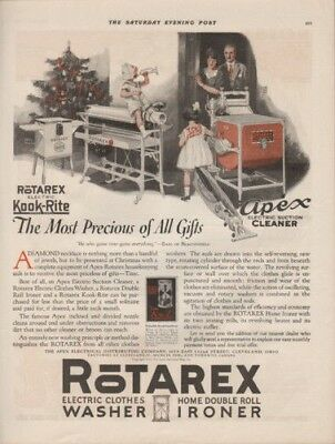 1923 Rotarex Household Appliances Christmas Holiday Ad 9559