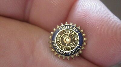 Vintage 1/10 10Kt. G.F. Rotary International Club President Lapel Pin