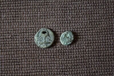 Lot Of 2 Rare Ae Ancient Greek Coins Perfect Quality Apollonia Pontica Thrace
