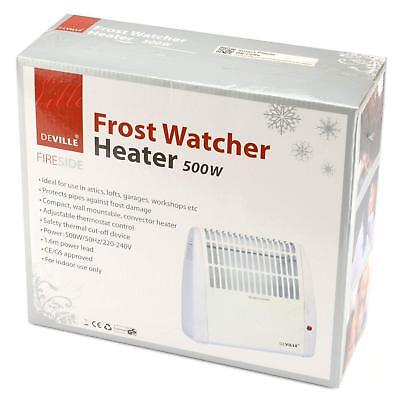 Frost Watcher Compact Electric Convector Heater Free Standing Wall Mounted 500W