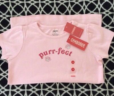 NWT Gymboree CLASSROOM KITTY Line Top Pink Cap Sleeves Size 12 Vintage 2008 VHF