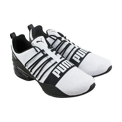 c8ec0be0b4a Puma Cell Regulate Sl Mens White Leather Athletic Lace Up Running Shoes